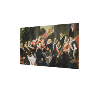 A Banquet of the Officers of the St. George Militi Canvas Print