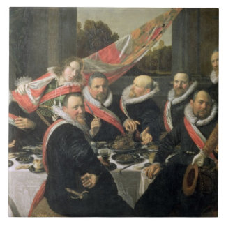 A Banquet of the Officers of the St. George Militi Large Square Tile