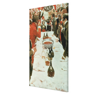 A Banquet to Genet illustration from Washington Canvas Print