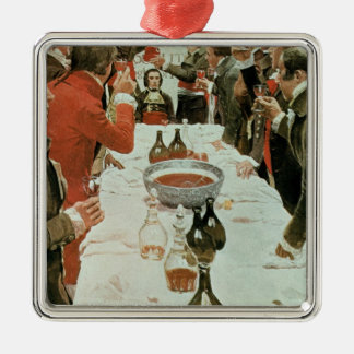 A Banquet to Genet illustration from Washington Christmas Ornament