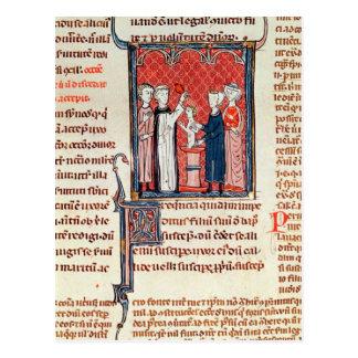 A Baptism Scene, from 'Decrets de Gratien' Postcard