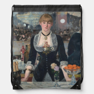 A Bar at the Folies-Bergère by Édouard Manet Backpacks