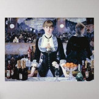 A Bar at the Folies-Bergère - Edouard Manet Posters