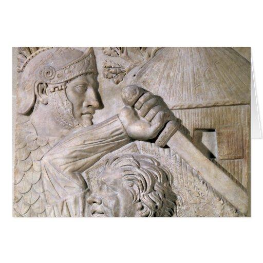A Barbarian fighting a Roman legionary Cards