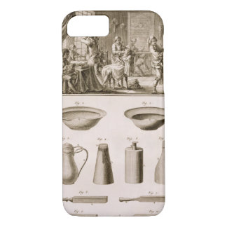 A barbershop and barber tools, from the 'Encyclope iPhone 7 Case