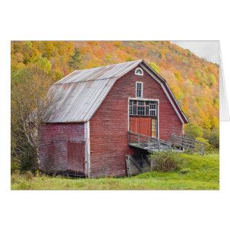 A barn in Vermont's Green Mountains. Hancock, 2 Card