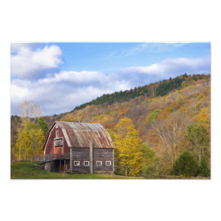 A barn in Vermont's Green Mountains. Hancock, 3 Photo Print