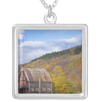 A barn in Vermont's Green Mountains. Hancock, 3 Silver Plated Necklace