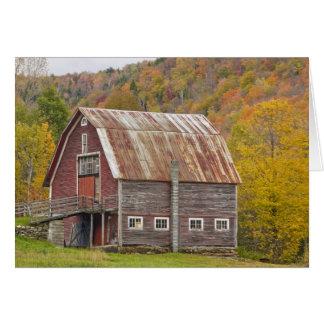 A barn in Vermont's Green Mountains. Hancock, Card