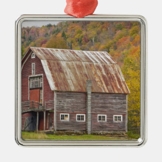 A barn in Vermont's Green Mountains. Hancock, Silver-Colored Square Decoration