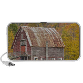 A barn in Vermont's Green Mountains. Hancock, Notebook Speaker