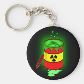 A Barrel of Toxic Waste. Basic Round Button Key Ring