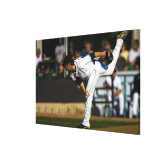 A baseball playing throwing the ball canvas print
