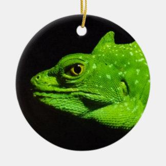A Basilisk Lizard Christmas Ornament