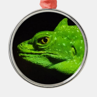 A Basilisk Lizard Christmas Ornament