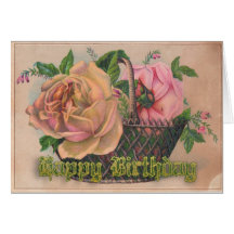 A Basket of Victorian Roses For Your BirthdayThis