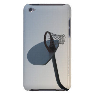 A basketball backboard hoop and net. Clear blue Barely There iPod Covers