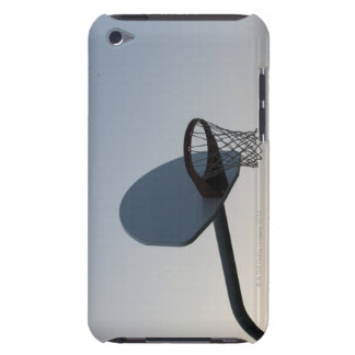A basketball backboard hoop and net. Clear blue iPod Touch Case