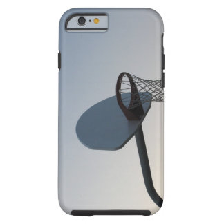 A basketball backboard hoop and net. Clear blue Tough iPhone 6 Case