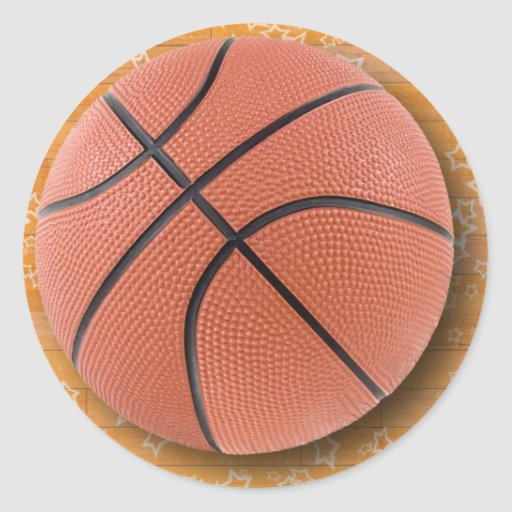 A Basketball Round Sticker