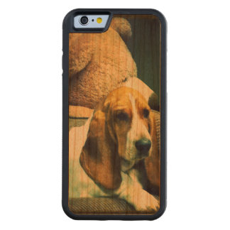A Basset and her Bear Bumper Case, Cherry Wood Cherry iPhone 6 Bumper