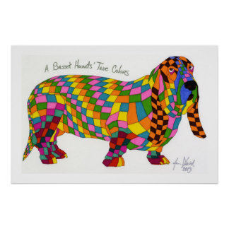 A Basset Hounds' True Colors, Basset Hound Poster
