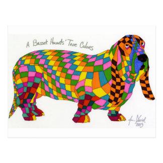 A Basset Hounds' True Colors Post Card