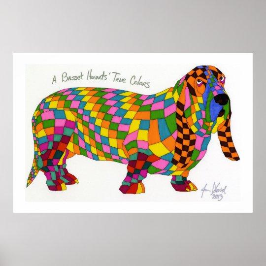 A Basset Hounds' True Colours, Basset Hound Poster