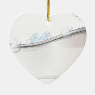 A bathtub christmas ornament