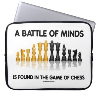 A Battle Of Minds Is Found In The Game Of Chess Laptop Computer Sleeves
