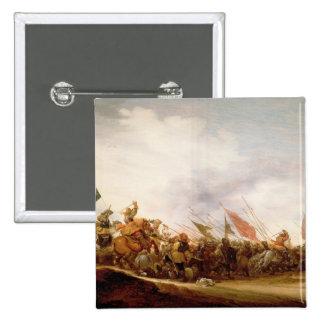 A Battle Scene, 1653 15 Cm Square Badge