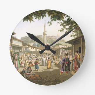 A Bazaar in Athens, plate 1 from Part 1 of 'Views Round Clock