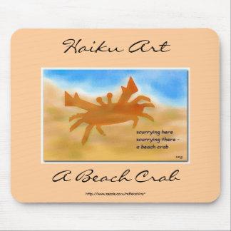 A Beach Crab Haiku Art Mousepad