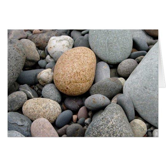 A Beach of Rocks Card