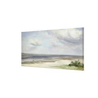 A Beach on the Baltic Sea at Laboe, 1842 Canvas Print