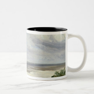 A Beach on the Baltic Sea at Laboe, 1842 Two-Tone Coffee Mug
