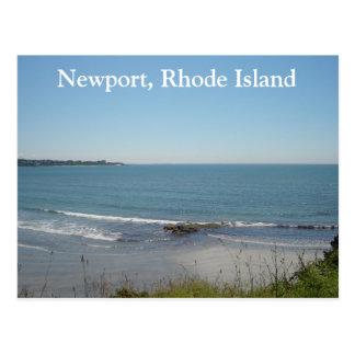 A Beach Scene In Newport, Rhode Island Postcard