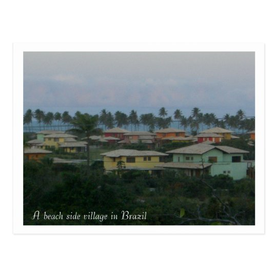 A beach side village in Brazil pos... - Customised Postcard
