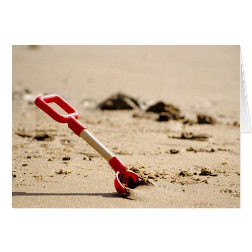 A beach spade. greeting card