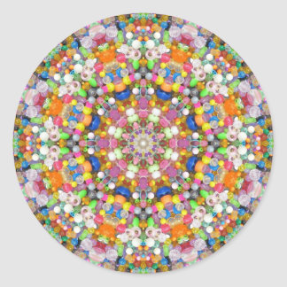 A Bead Mandala Classic Round Sticker