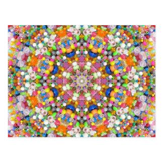 A Bead Mandala Postcard