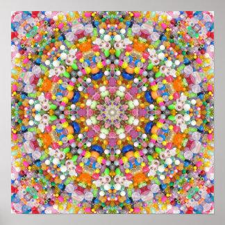 A Bead Mandala Poster