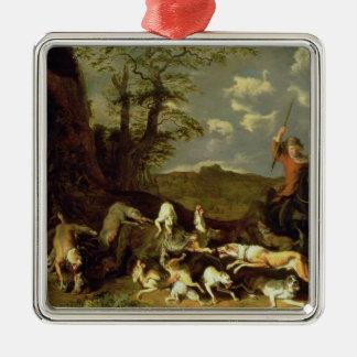 A Bear Hunt, 1655 Christmas Ornament
