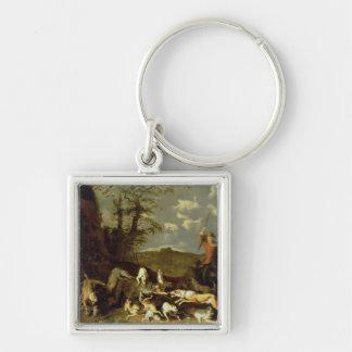A Bear Hunt, 1655 Key Chain