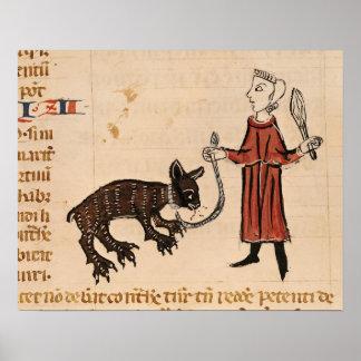 A Bear Keeper, from 'Decrets de Gratien' Posters