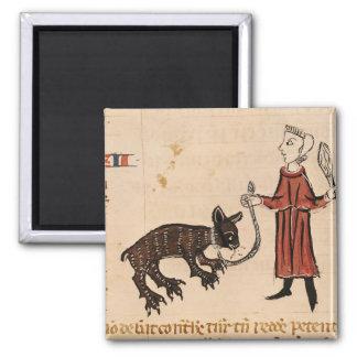 A Bear Keeper, from 'Decrets de Gratien' Square Magnet