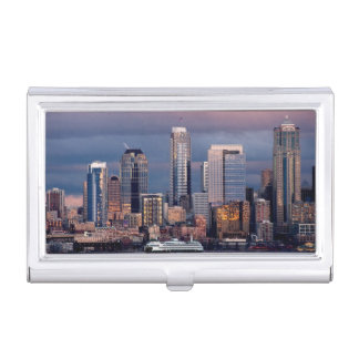 A beautiful and dramatic sunset seen from West Business Card Holder