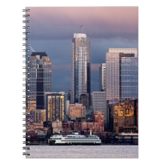 A beautiful and dramatic sunset seen from West Spiral Notebook