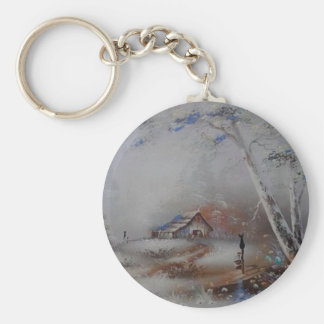 a beautiful day basic round button key ring