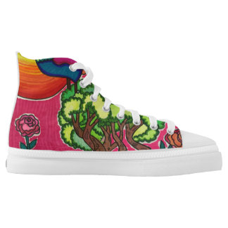 A beautiful day printed shoes